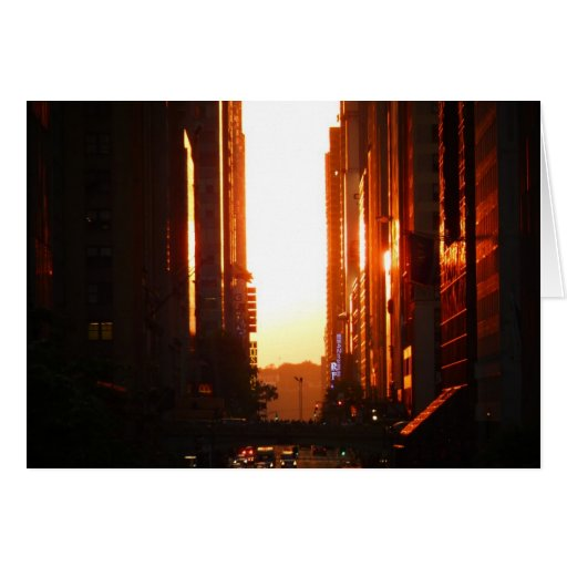 Sunset in New York City Cards