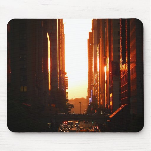 Sunset in New York City Mouse Pads