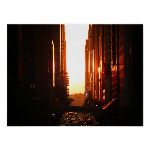 Sunset in New York City, Small Print