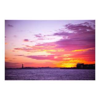 Sunset in New York Photograph