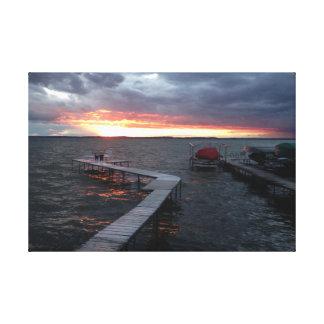 Sunset in on Lake Mendota Canvas Print
