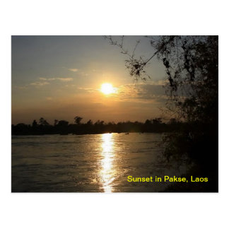 Sunset in Pakse Postcard