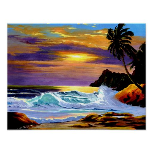 Sunset in Paradise Posters and Prints