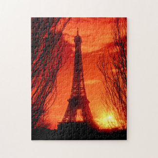 Sunset in Paris Jigsaw Puzzle