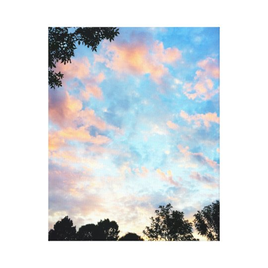 Sunset in Pinks and Blues Canvas Print