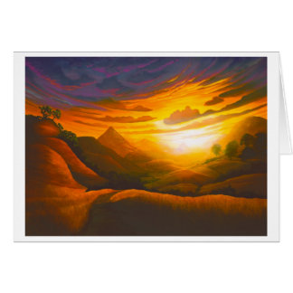 Sunset in Poly Canyon Card