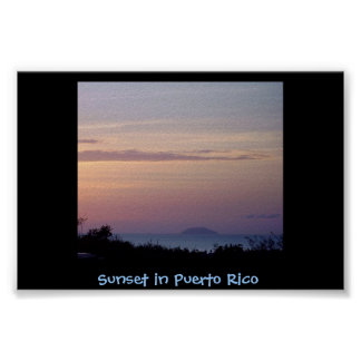 Sunset in Puerto Rico Poster