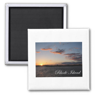 Sunset in Rhode Island Square Magnet