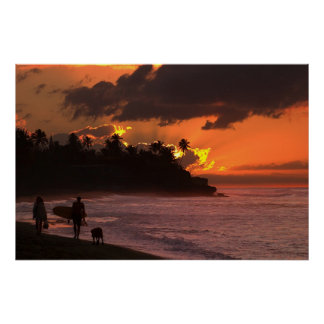 Sunset in Rincon Puerto Rico Posters