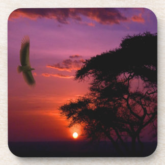 Sunset In Serengeti, Africa Drink Coaster