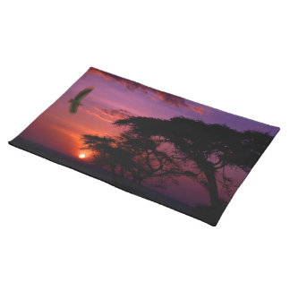 Sunset In Serengeti, Africa Placemats