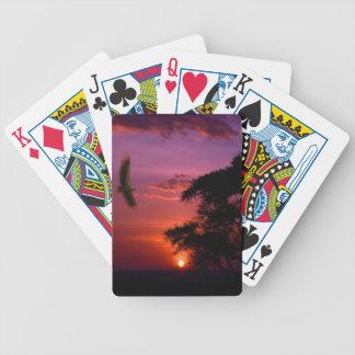 Sunset In Serengeti Africa Poker Cards