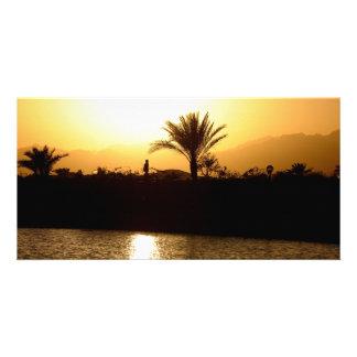 Sunset in Sharm el Sheikh Egypt Photo Card