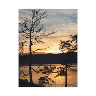 Sunset in Siberia Canvas Print