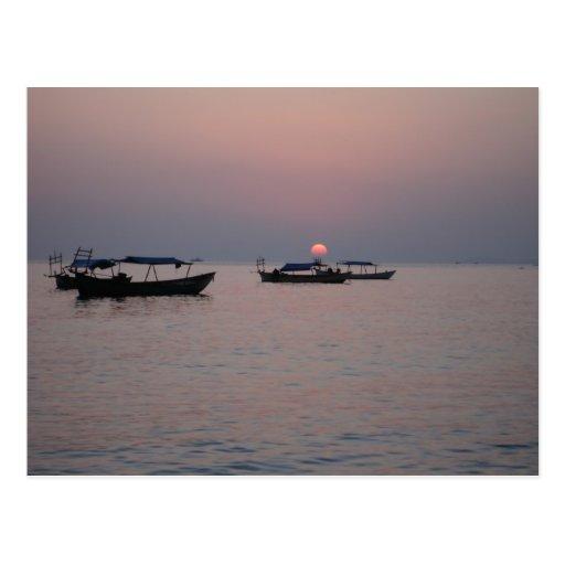 Sunset in Sihanoukville, Cambodia Postcards
