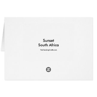 Sunset in South Africa Card
