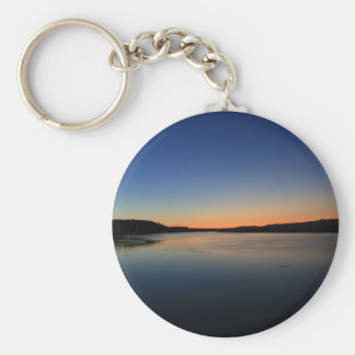 Sunset in South Bend Basic Round Button Key Ring