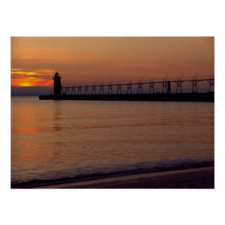 Sunset in South Haven Print