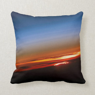Sunset in Space Throw Cushions