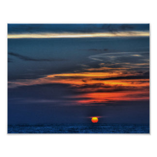 Sunset in St Petersburg Beach,Florida Poster