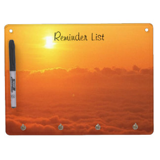 Sunset In The Clouds Reminder List Dry Erase Board With Key Ring Holder