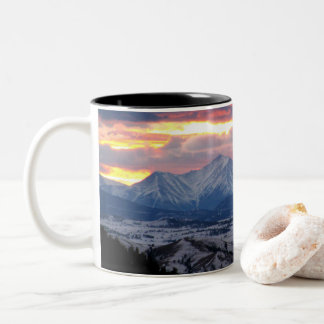 Sunset in the Colorado Mountains Mug