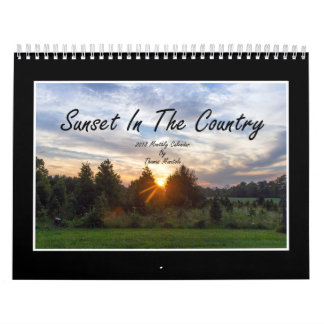 Sunset In The Country 2018 Monthly Calendar