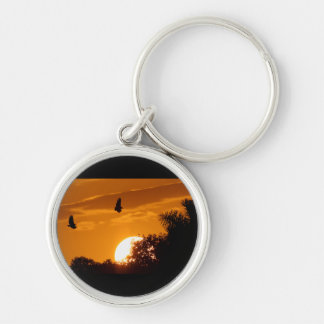 Sunset in the Everglades Keychains