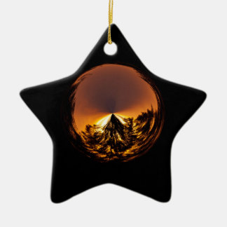 Sunset in the globe christmas ornament