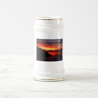 Sunset in the Gulf of Mexico by Nature Bug Beer Steins