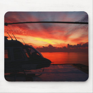 sunset in the gulf of mexico mouse mat