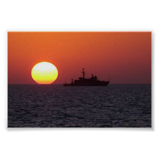 SUNSET IN THE GULF POSTER