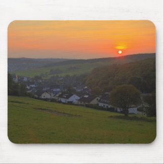 Sunset in the low mountain range, winner country mouse pad