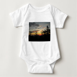 Sunset in the Mountains Baby Bodysuit