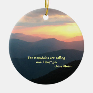 Sunset in the Smokies: Mtns are calling Customize Christmas Ornament