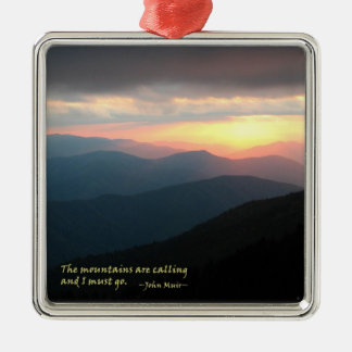 Sunset in the Smokies: Mtns are calling / Muir Christmas Ornament