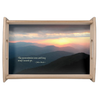 Sunset in the Smokies: Mtns are calling / Muir Serving Tray