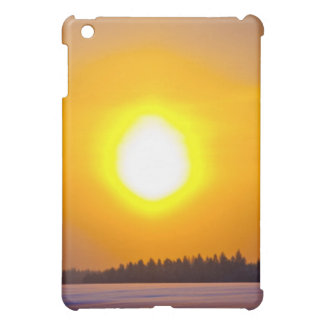 sunset in the winter in Finland Cover For The iPad Mini