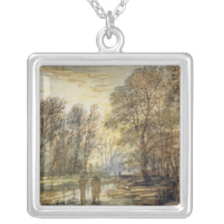 Sunset in the Wood Silver Plated Necklace