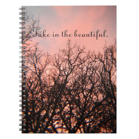 Sunset in the Woods Notebook
