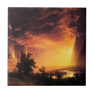 Sunset in the Yosemite Valley Tile