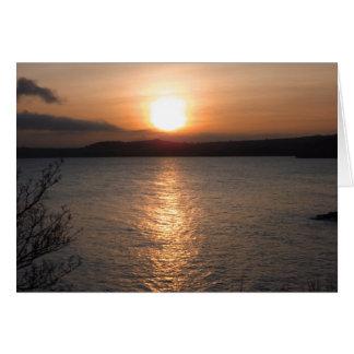 Sunset in Torquay, Devon Card
