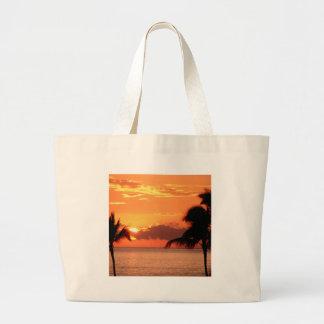 Sunset In Tropics Maui Tote Bag