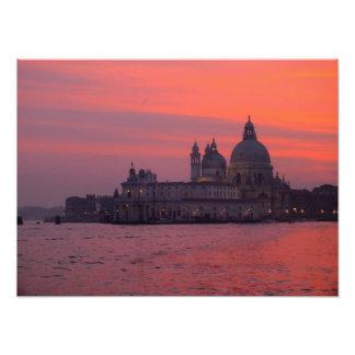 Sunset in Venice Photo Art