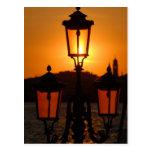 Sunset in Venice Postcard