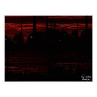 Sunset in Virginia Beach, VA. Print