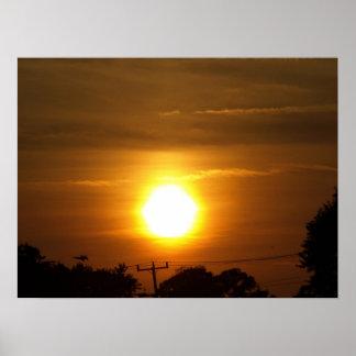 Sunset in Virginia Beach, VA. Poster