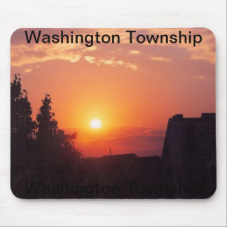 sunset in washington township mouse mat