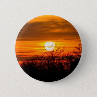 sunset in winter 6 cm round badge