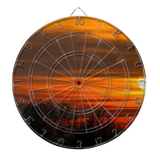 sunset in winter dartboard